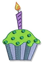 Birthday Cupcake embroidery design