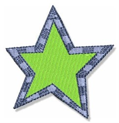 Birthday Star embroidery design