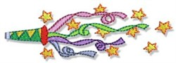 Birthday Streamers embroidery design