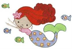 Little Star Mermaid embroidery design
