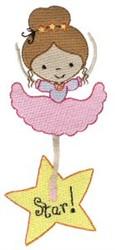 Little Stars Ballerina embroidery design