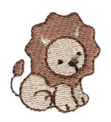 Mini Lion embroidery design