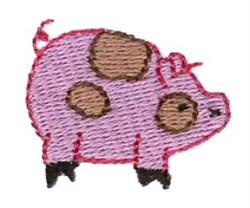 Mini Pig embroidery design