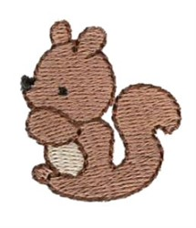 Mini Squirrel embroidery design