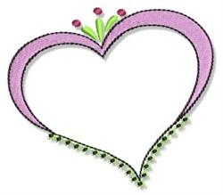 Fun Heart Frame embroidery design