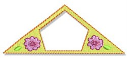 Fun Floral Frame embroidery design