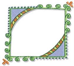 Pretty Decorative Frame embroidery design