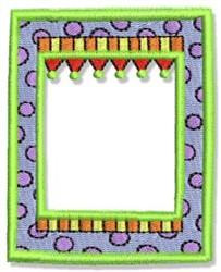 Fun Square Frame embroidery design