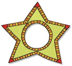 Fun Star Frame embroidery design