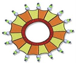 Fun Circular Frame embroidery design