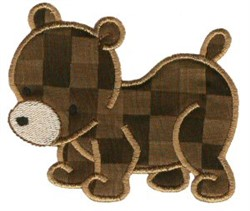 Sweet Bear Applique embroidery design