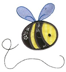 Sweet Applique Bumblebee embroidery design