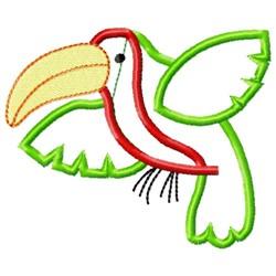 Sweet Toucan Applique embroidery design