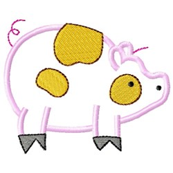 Sweet Pig Applique embroidery design