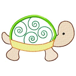 Sweet Turtle Applique embroidery design