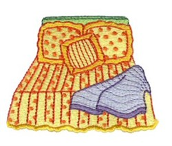 Pajama Party Bed embroidery design