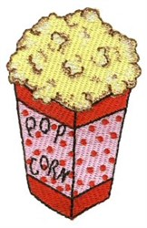 Pajama Party Popcorn embroidery design