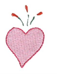 Pajama Party Heart embroidery design
