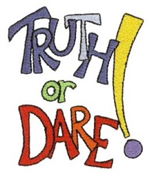 Pajama Party Truth Or Dare embroidery design