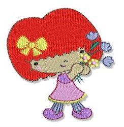 Redhead Spring Cutie embroidery design