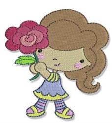 Spring Cutie & Rose embroidery design