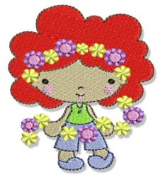 Spring Cutie Flower Girl embroidery design
