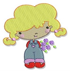 Blonde Spring Cutie embroidery design