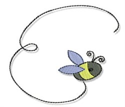 Spring Cutie Bumblebee embroidery design