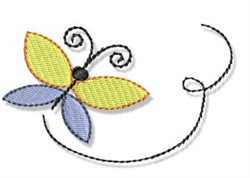 Spring Cutie Butterfly embroidery design