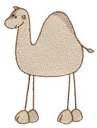 Stick Figure Camel embroidery design