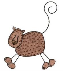 Stick Figure Cheetah embroidery design