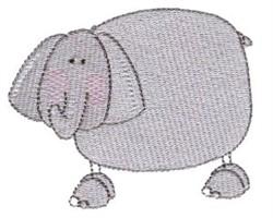 Stick Figure Elephant embroidery design