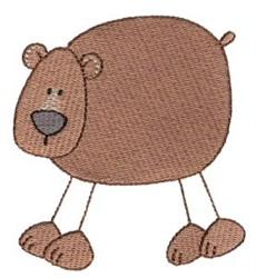 Stick Figure Bear embroidery design