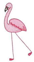 Stick Figure Flamingo embroidery design