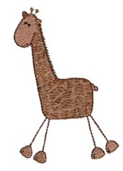 Stick Figure Giraffe embroidery design