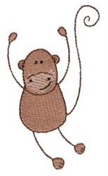Stick Figure Monkey embroidery design