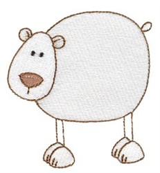 Stick Figure Polar Bear embroidery design