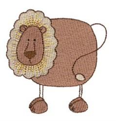 Stick Figure Lion embroidery design