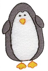 Stick Figure Penguin embroidery design