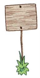 Stick Figure Sign embroidery design