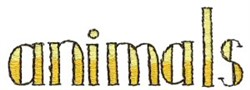 Animals Sign embroidery design