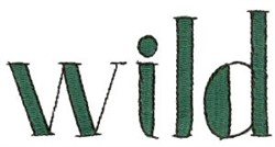 Wild Sign embroidery design
