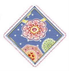 Diamond Floral Applique Patch embroidery design