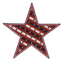 Patriotic Star Applique Patch embroidery design