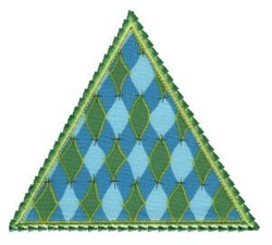 Triangle Applique Patch embroidery design