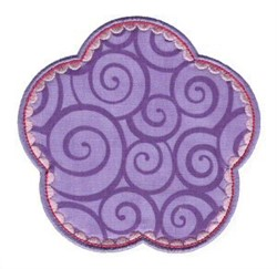 Scalloped Applique Patch embroidery design