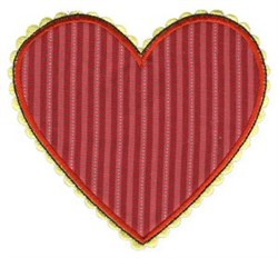 Heart Applique Patch embroidery design