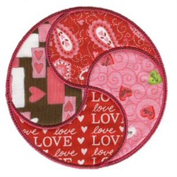 Valentines Day Applique Patch embroidery design
