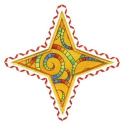 Star Applique Patch embroidery design