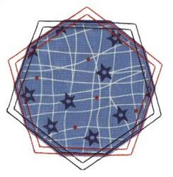 Double Pentagon Applique Patch embroidery design